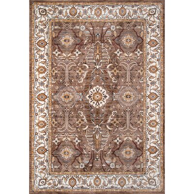 Burnley Brown Area Rug Rug Size: Rectangle 92 x 132