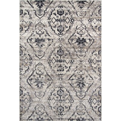 Ronin Ivory Area Rug Rug Size: Rectangle 76 x 96