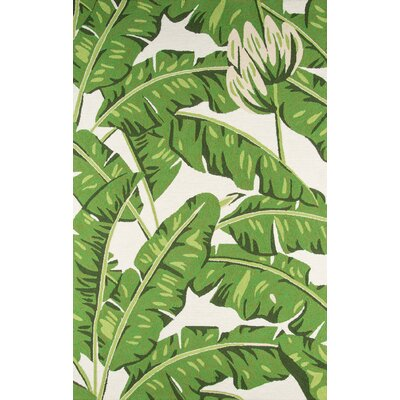 Zaliki Hand-Hooked Green Indoor/Outdoor Area Rug Rug Size: 2 x 3