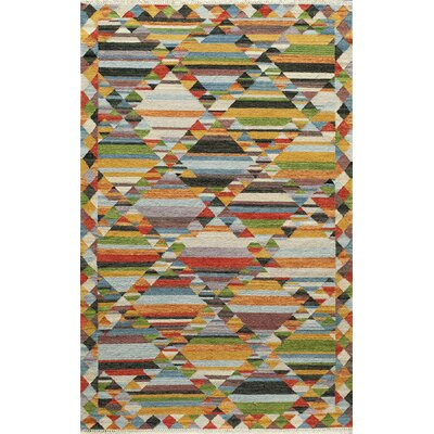Collman Hand-Woven Yellow Area Rug Rug Size: 33 x 53