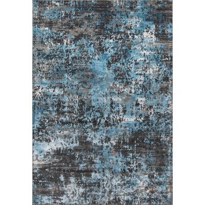 Hampson Charcoal Area Rug Rug Size: 86 x 116