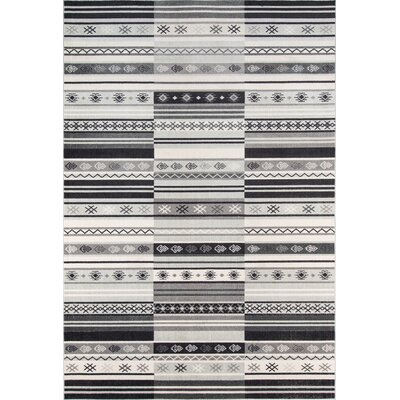 Kari Charcoal Indoor/Outdoor Area Rug Rug Size: 2 x 3