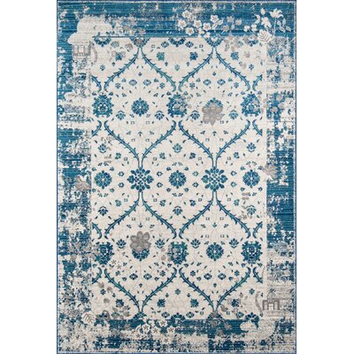 Chacon Blue Indoor/Outdoor Area Rug Rug Size: 53 x 76