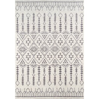 Rundell Ivory Area Rug Rug Size: Rectangle 53 x 76