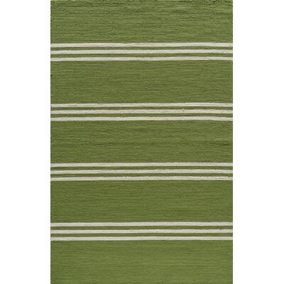 Aderdour Hand-Hooked Lime Indoor/Outdoor Area Rug Rug Size: 5 x 8