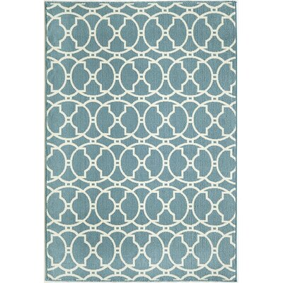 Baltimore Blue Indoor/Outdoor Area Rug Rug Size: 53 x 76