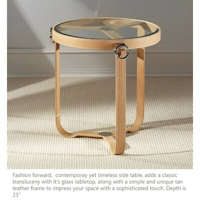 Irons End Table Color: Tan