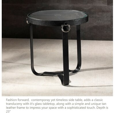 Irons End Table Color: Black