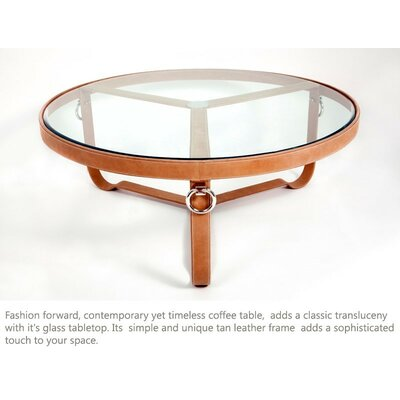 Isenberg Coffee Table Color: Tan