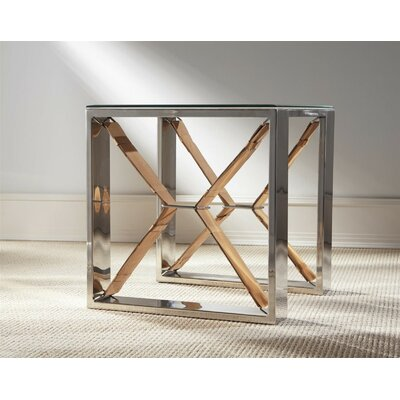 Iraheta End Table Color: Tan