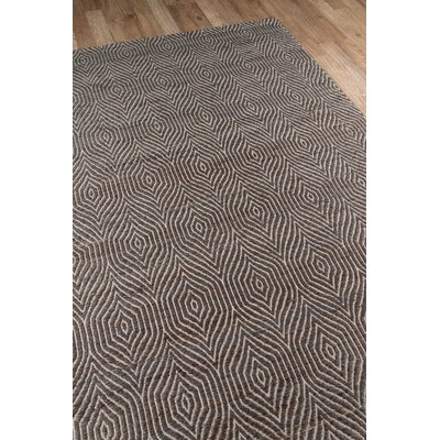 Supriya Hand-Woven Charcoal Area Rug Rug Size: Rectangle 2 x 3