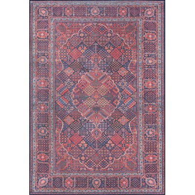 Varian Navy Area Rug Rug Size: Rectangle 76 x 96