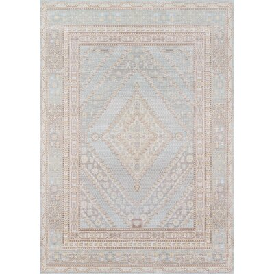 Sofian Blue Geometric Area Rug Rug Size: Rectangle 53 x 73