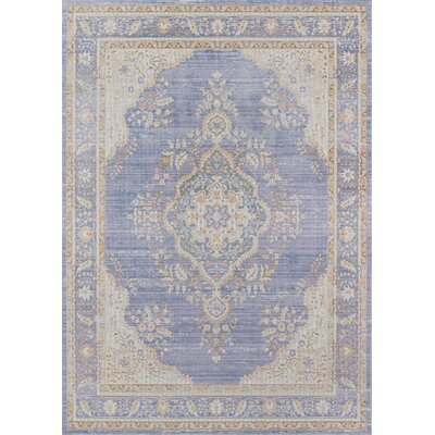 Sofian Periwinkle Area Rug Rug Size: Rectangle 53 x 73