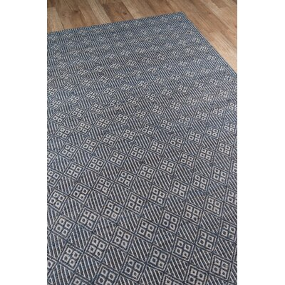 Supriya Hand-Woven Blue Area Rug Rug Size: Rectangle 36 x 56