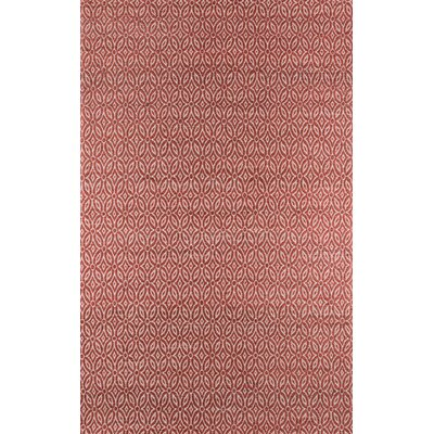 Alvaro Hand-Woven Red Area Rug Rug Size: 8 x 10