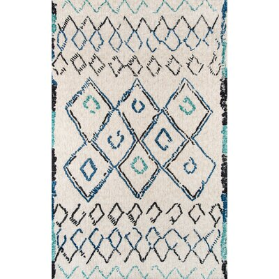 Monroeville Hand-Tufted Ivory Area Rug Rug Size: Rectangle 76 x 96