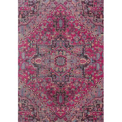 Thadine Pink Oriental Area Rug Rug Size: Rectangle 311 x 57