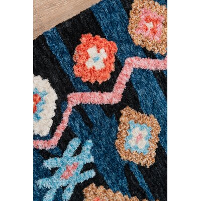 Valora Hand-Tufted Navy Area Rug Rug Size: Rectangle 76 x 96