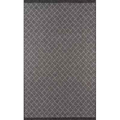 Milivoje Charcoal Area Rug Rug Size: Rectangle 67 x 96