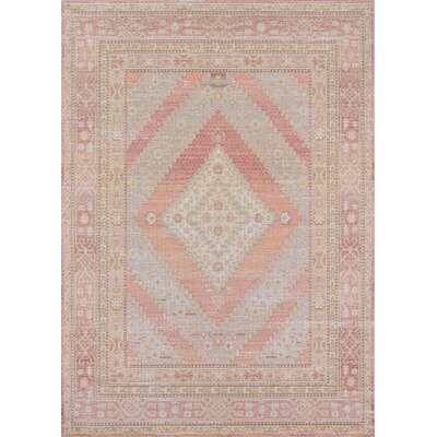 Sofian Pink/Blue Geometric Area Rug Rug Size: Rectangle 93 x 1110