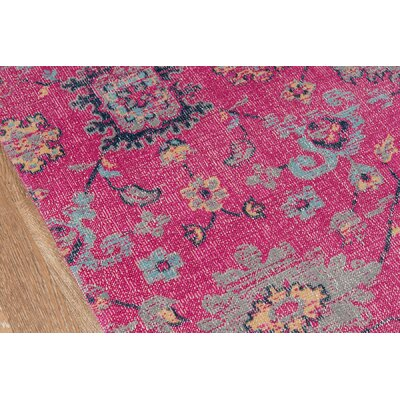 Thadine Pink Area Rug Rug Size: Rectangle 9 x 12