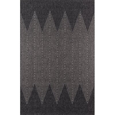 Milivoje Charcoal Chevron Area Rug Rug Size: Rectangle 67 x 96