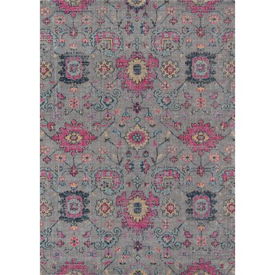 Thadine Gray Area Rug Rug Size: Rectangle 53 x 76