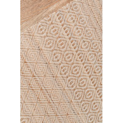 Supriya Hand-Woven Natural Geometric Area Rug Rug Size: Rectangle 36 x 56