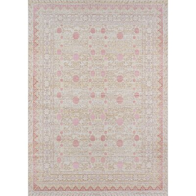 Sofian Pink Area Rug Rug Size: Rectangle 53 x 73