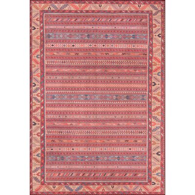 Monomoy Red Area Rug Rug Size: Rectangle 3 x 5