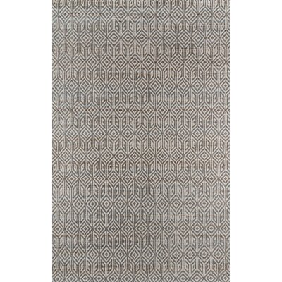 Supriya Hand-Woven Gray Area Rug Rug Size: Rectangle 36 x 56