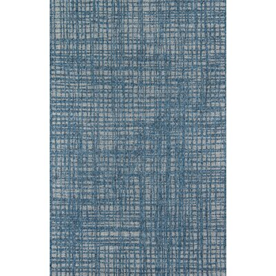 Milivoje Blue Abstract Area Rug Rug Size: Rectangle 67 x 96