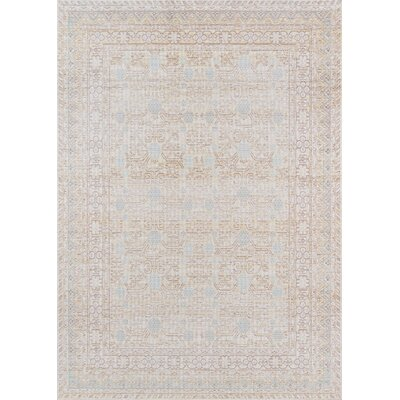 Sofian Blue Area Rug Rug Size: Rectangle 53 x 73