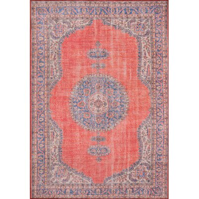 Varian Red Area Rug Rug Size: Rectangle 76 x 96