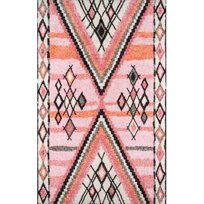 Valora Hand-Tufted Pink Area Rug Rug Size: Rectangle 9 x 12