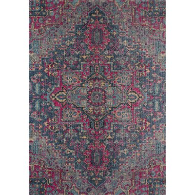 Thadine Denim Oriental Area Rug Rug Size: Rectangle 2 x 3