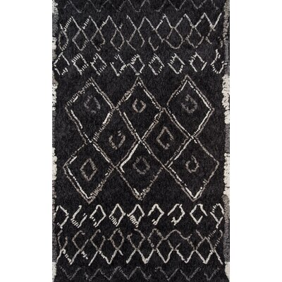 Monmouth Hand-Tufted Black Area Rug Rug Size: Rectangle 76 x 96
