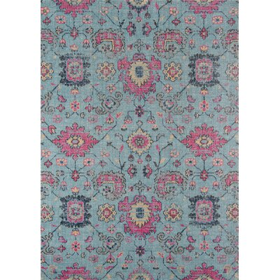 Thadine Blue Area Rug Rug Size: Rectangle 53 x 76
