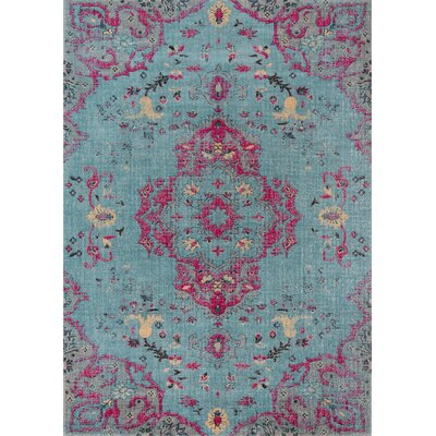 Thadine Blue Oriental Area Rug Rug Size: Rectangle 9 x 12