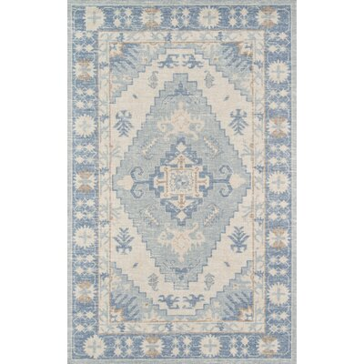 Erela Indoor Blue Area Rug Rug Size: Rectangle 99 x 126