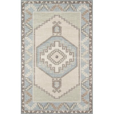 Moyer Indoor Light Blue Area Rug Rug Size: Rectangle 53 x 76