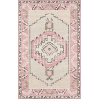 Moyer Indoor Pink Area Rug Rug Size: Rectangle 5'3