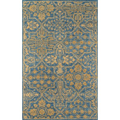 Worreno Hand-Tufted Wool Indoor Blue Oriental Area Rug Rug Size: Rectangle 36 x 56