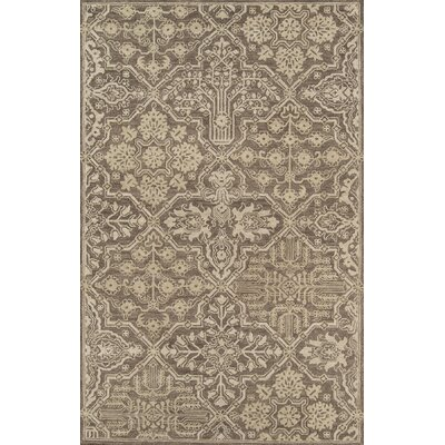 Worreno Hand-Tufted Wool Indoor Brown Area Rug Rug Size: Rectangle 36 x 56