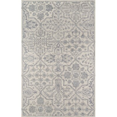 Worreno Hand-Tufted Wool Indoor Gray Area Rug Rug Size: Rectangle 36 x 56