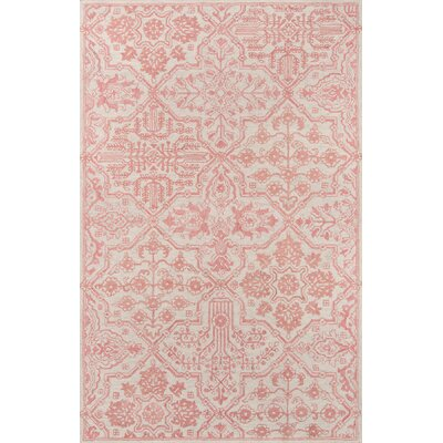 Worreno Hand-Tufted Wool Indoor Pink Area Rug Rug Size: Rectangle 8 x 11