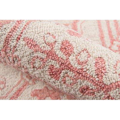 Worreno Hand-Tufted Wool Indoor Pink Area Rug Rug Size: Rectangle 2' x 3'