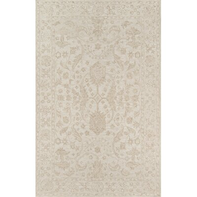 Worreno Hand-Tufted Wool Indoor Beige Area Rug Rug Size: Rectangle 5 x 8