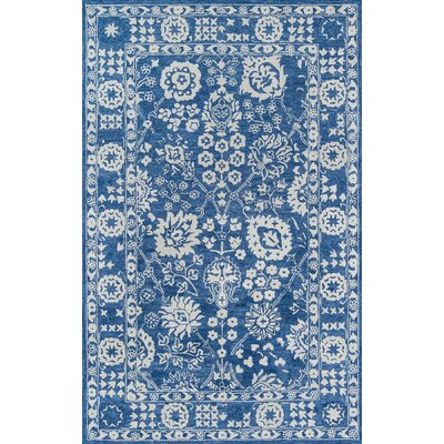 Worreno Hand-Tufted Wool Indoor Blue Area Rug Rug Size: Rectangle 96 x 136